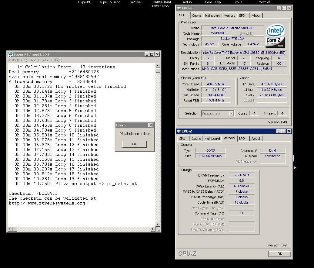 OC d'un Intel Quad Extrême QX9650 C0 ES - Page 2 QX9650%20ES%20SuperPi1M%2010.750