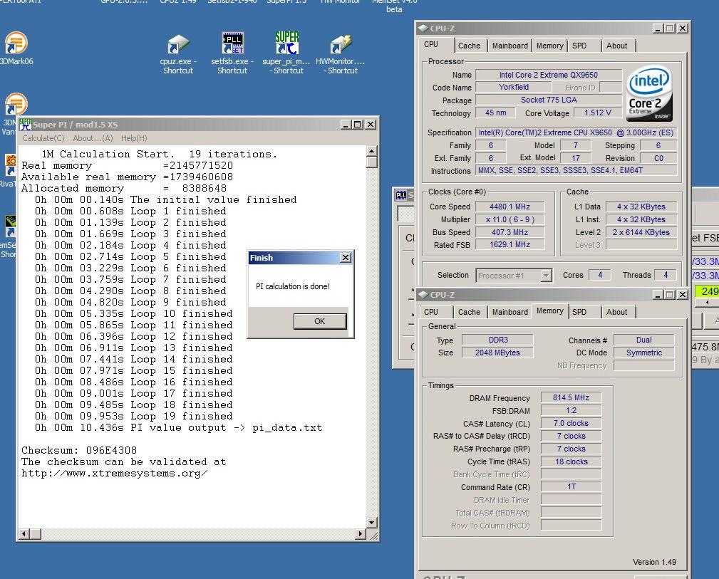 OC d'un Intel Quad Extrême QX9650 C0 ES - Page 2 SuperPi%201.5%20-%20QX9650%20ES%20%2010.436s